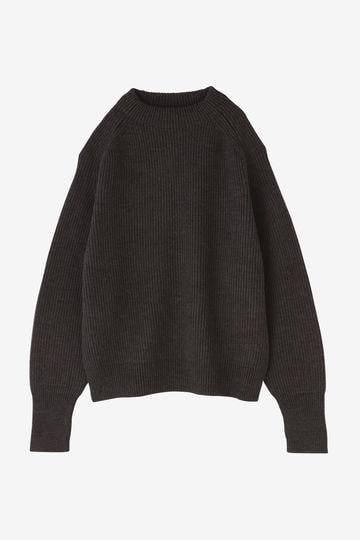 BLURHMS / SILK WOOL RIB KNIT P/O_020