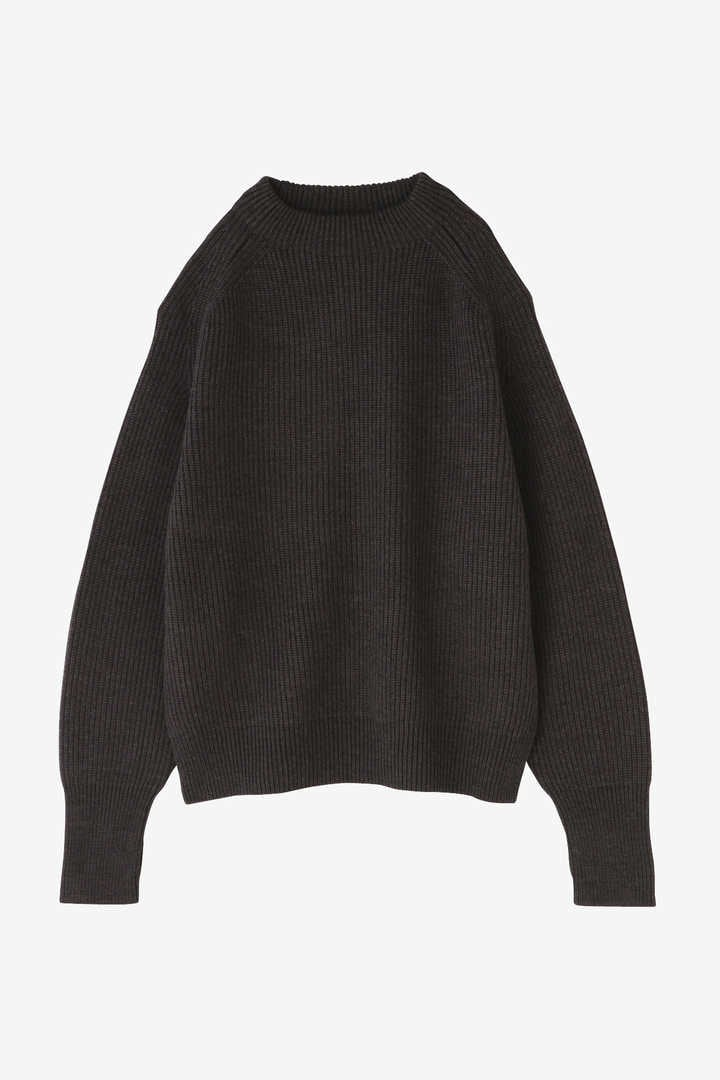 BLURHMS / SILK WOOL RIB KNIT P/O1