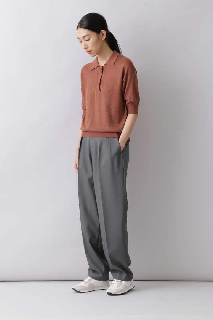 LINEN COTTON SLAB KN POLO4