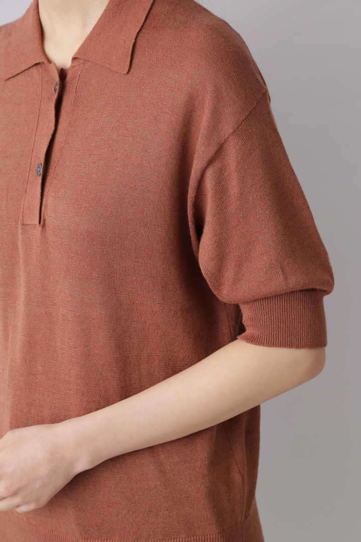 LINEN COTTON SLAB KN POLO8