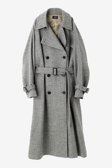 WOOL MILLED TRENCH COAT