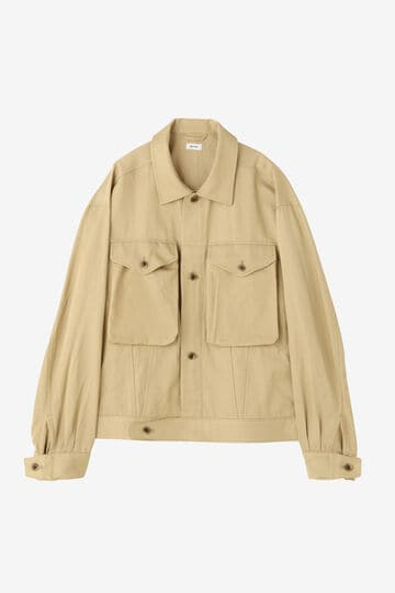 BLURHMS / RAYON COTTON SHORT JACKET_040