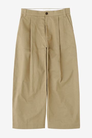 STUDIO NICHOLSON / PEACHED COTTON TWILL CLASSIC VOLUME PANTS_040