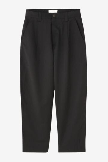 STUDIO NICHOLSON / MEDIUM TROPICAL WOOL SENGLE PLEAT TAPERD PANT_010