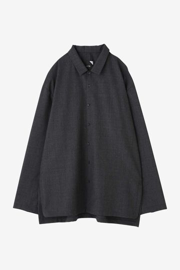 ATON / WOOL TROPICAL OVERSIZED WORK SHIRT_010