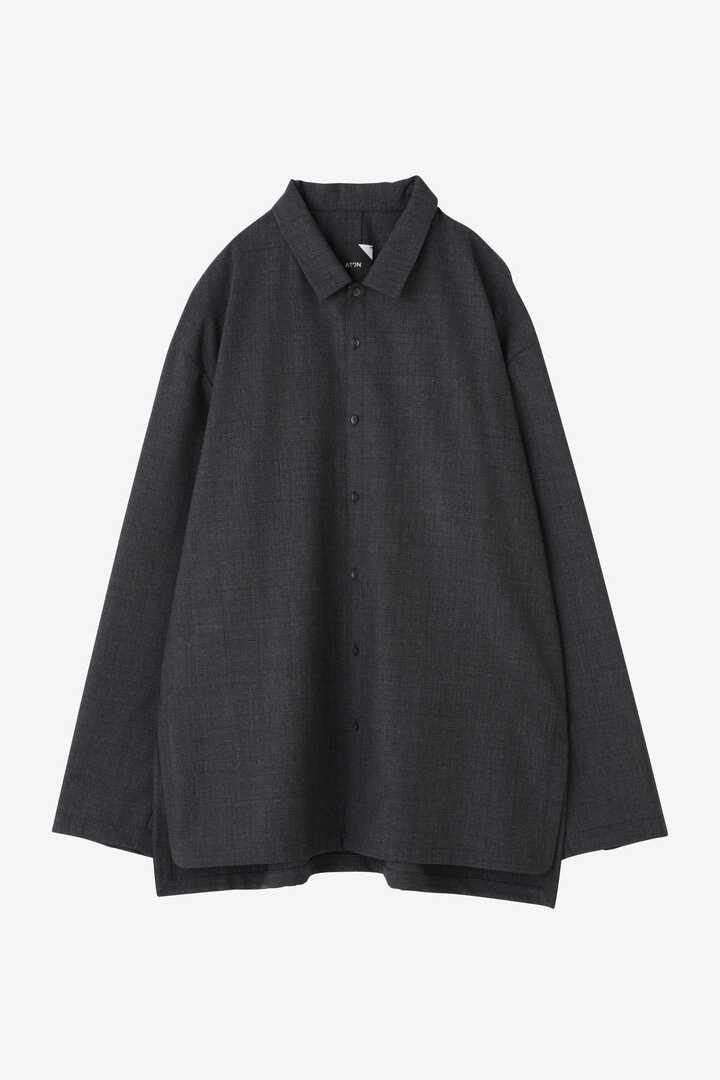 ATON / WOOL TROPICAL OVERSIZED WORK SHIRT1