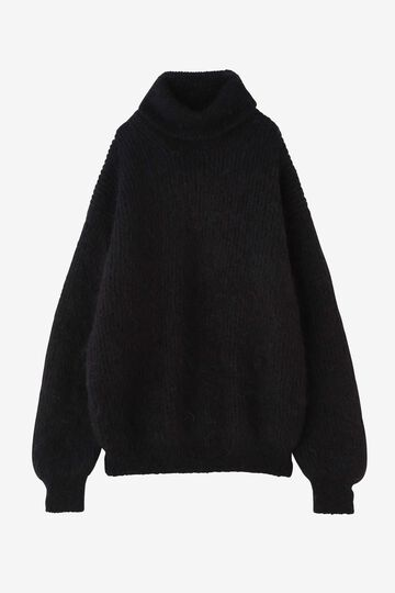 BLURHMS / KID MOHAIR ALPACA WOOL KNIT TURTLE-NECK P/O_010