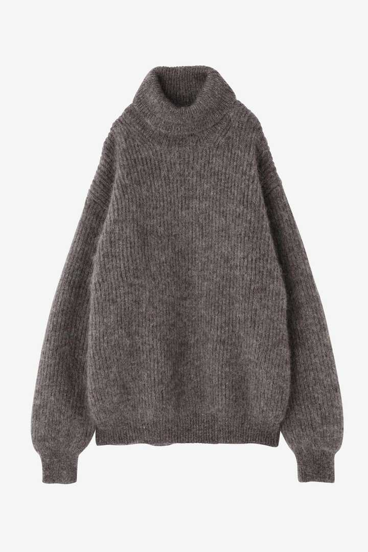 BLURHMS / KID MOHAIR ALPACA WOOL KNIT TURTLE-NECK P/O7