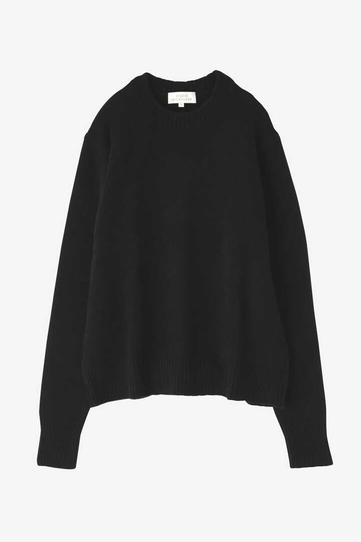 STUDIO NICHOLSON / WASHED WOOL POLY CREW NECK KNIT7
