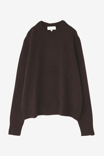 STUDIO NICHOLSON / WASHED WOOL POLY CREW NECK KNIT_050