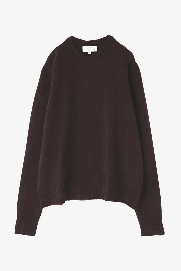 STUDIO NICHOLSON / WASHED WOOL POLY CREW NECK KNIT1