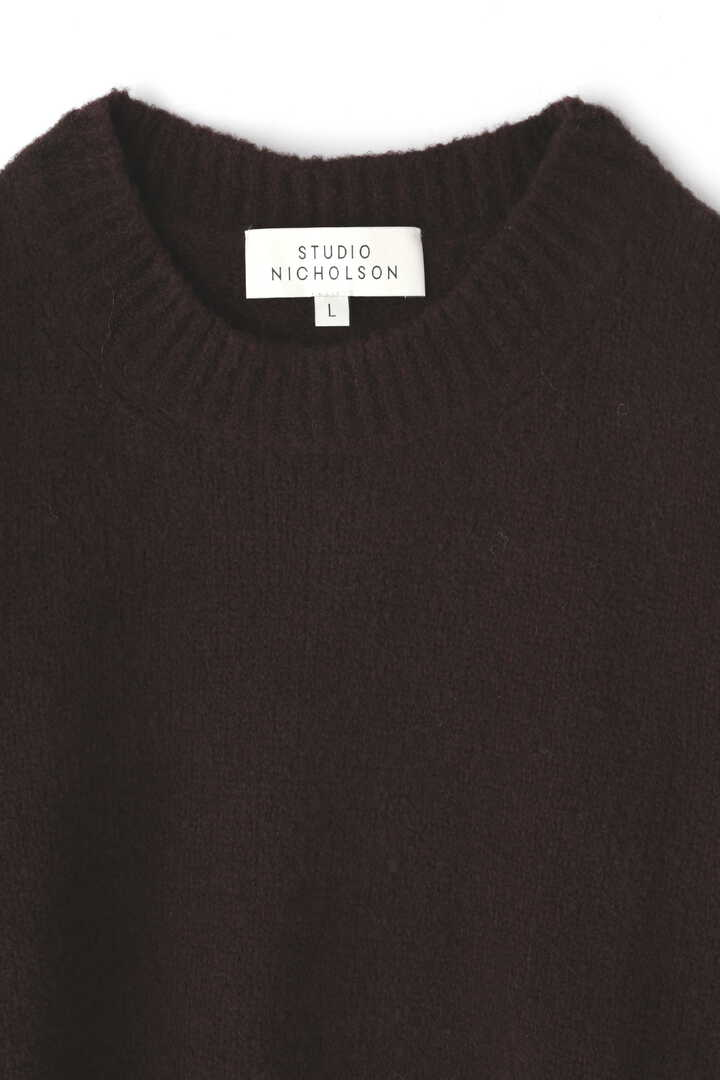 STUDIO NICHOLSON / WASHED WOOL POLY CREW NECK KNIT3