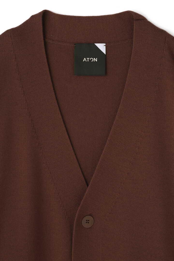 ATON / SLOW WOOL OVERSIZED CARDIGAN3