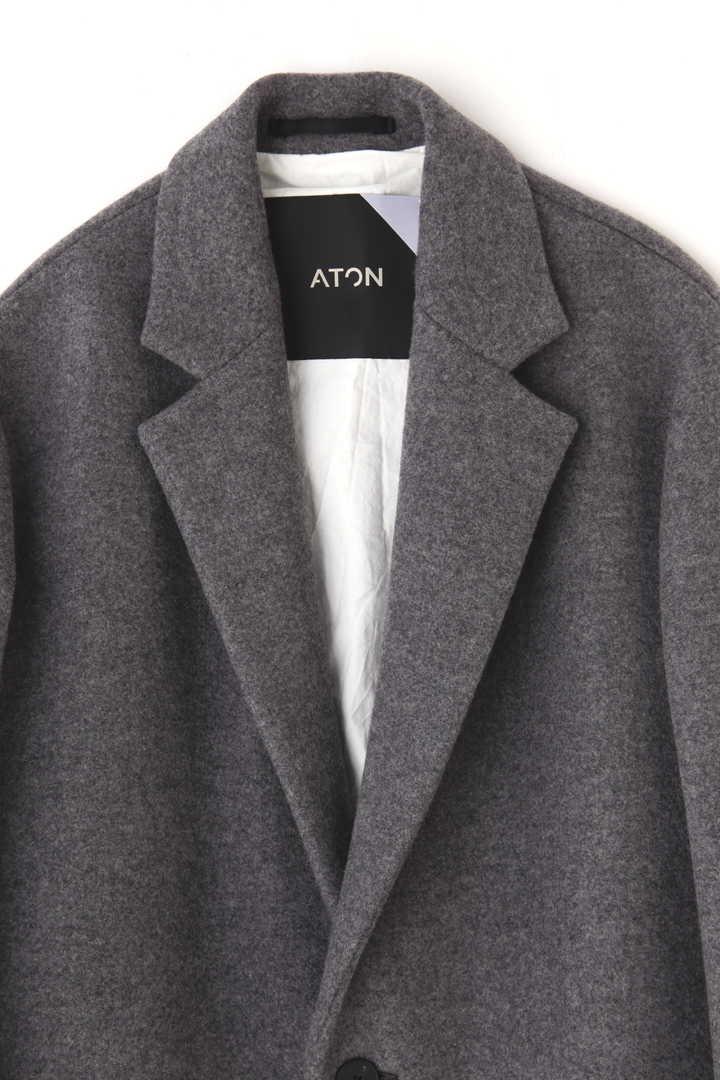 ATON / AIR DOUBLE MELTON CHESTERFIELD COAT3