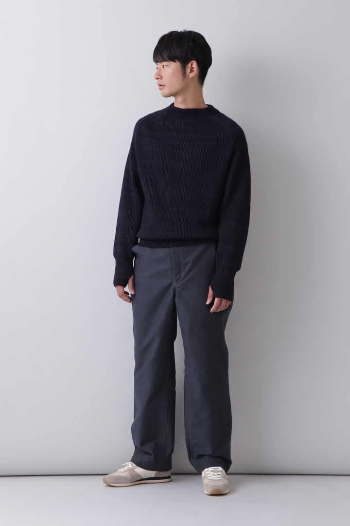 BLURHMS / SILK WOOL RIB KNIT P/O5