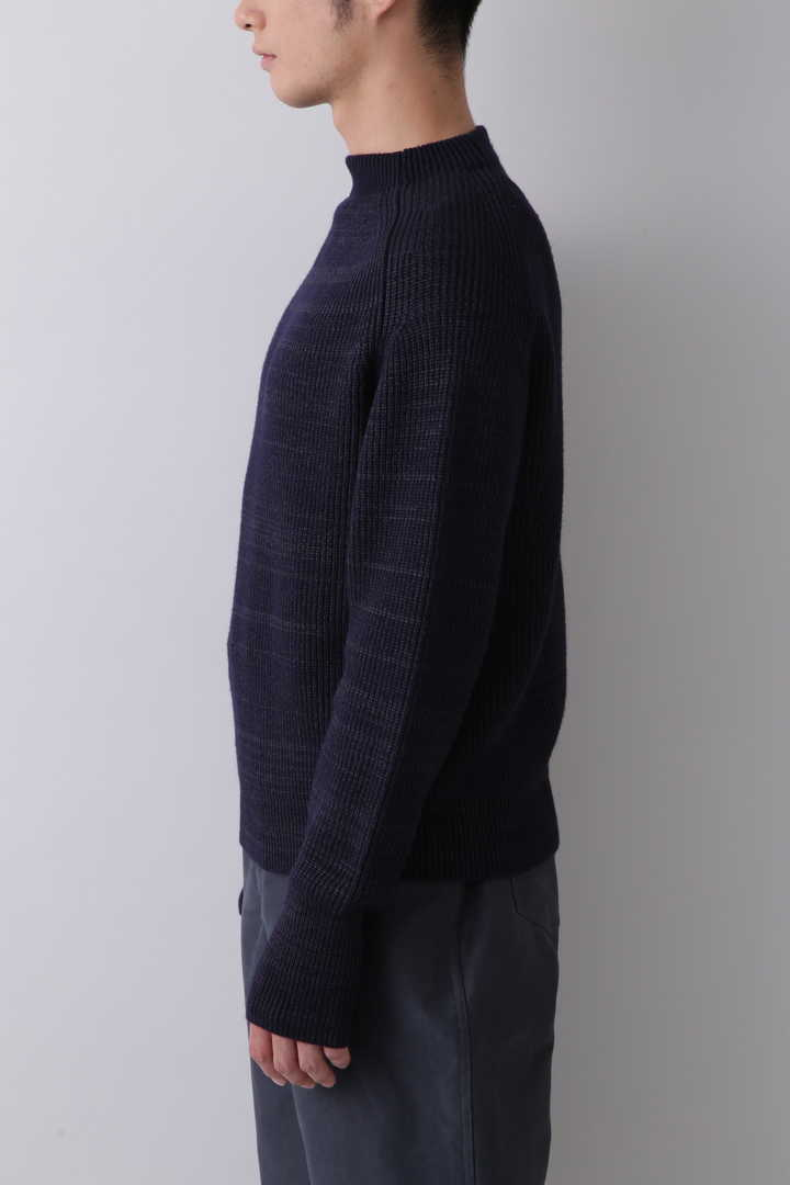 BLURHMS / SILK WOOL RIB KNIT P/O6