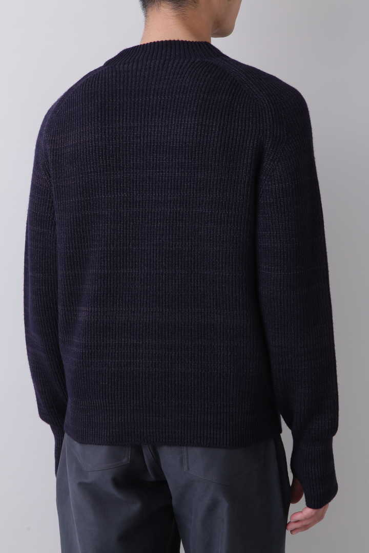 BLURHMS / SILK WOOL RIB KNIT P/O7