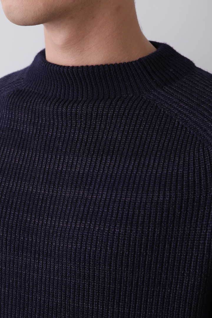 BLURHMS / SILK WOOL RIB KNIT P/O8