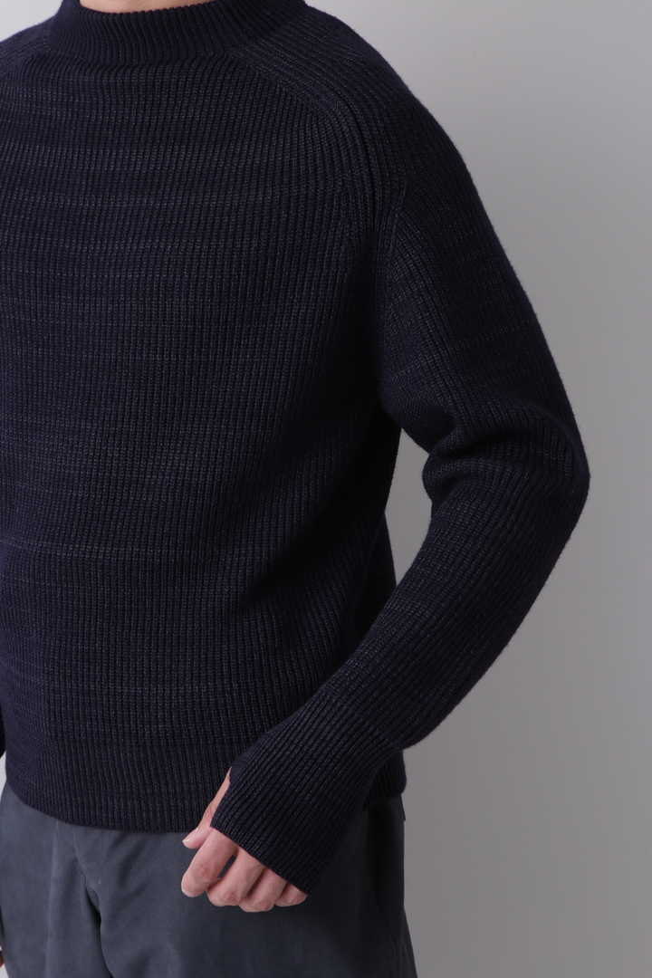 BLURHMS / SILK WOOL RIB KNIT P/O9