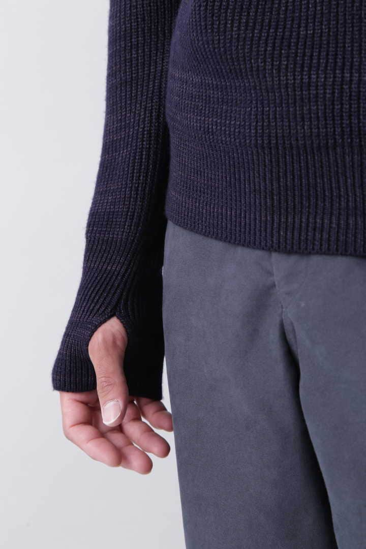 BLURHMS / SILK WOOL RIB KNIT P/O11