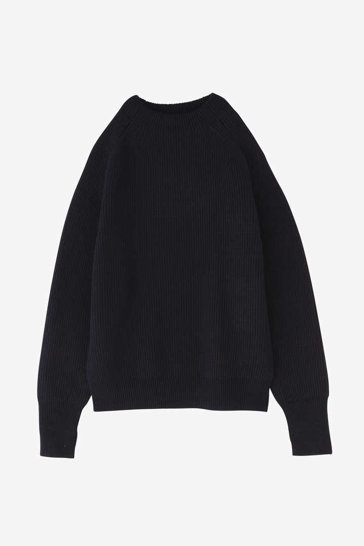 BLURHMS / SILK WOOL RIB KNIT P/O3