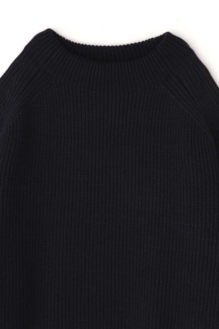 BLURHMS / SILK WOOL RIB KNIT P/O13