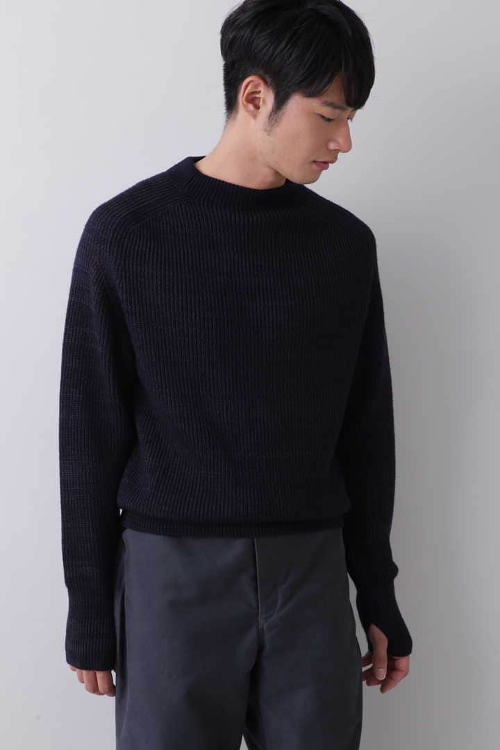 BLURHMS / SILK WOOL RIB KNIT P/O4