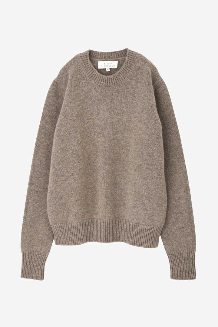 STUDIO NICHOLSON / ENGLISH LAMBS WOOL FIVE GAUGE CREW NECK1