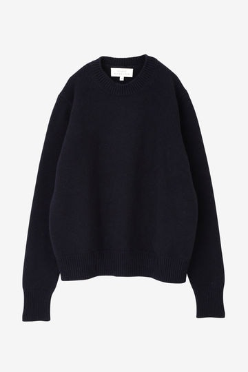STUDIO NICHOLSON / ENGLISH LAMBS WOOL FIVE GAUGE CREW NECK
