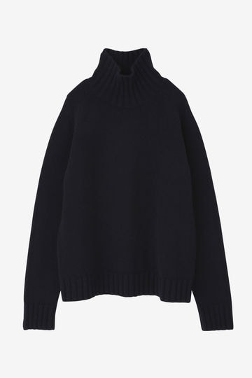 STUDIO NICHOLSON / ENGLISH LAMBSWOOL FIVE GAUGE HIGH NECK JUMPER