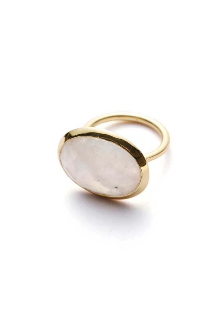 THE LIBRARY / INDIA JWL RING R/MOONSTONE