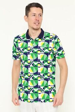 幾何学柄ポロシャツ (MENS)