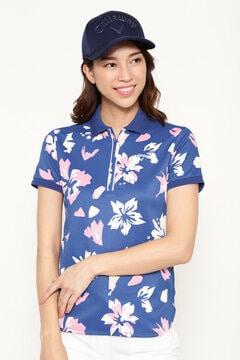 ハーフジップポロシャツ (WOMENS)