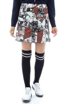 コラージュプリント ストレッチピケスカート(WOMENS)
