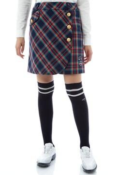 タータンチェックストレッチスカート(WOMENS)