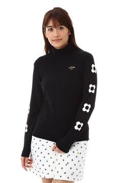 起毛ストレッチリブタートルネックシャツ(WOMENS)