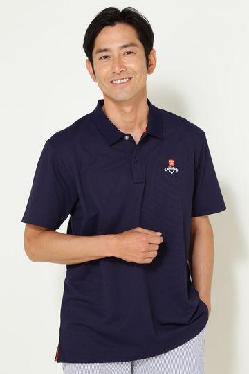 キャロウェイ バックプリントタック鹿の子ポロシャツ(MENS)