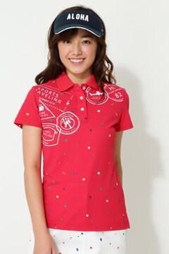 キャロウェイ スプラッシュスタンププリントポロシャツ(WOMENS)