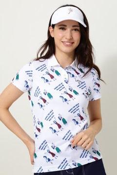 キャロウェイ フラガールプリントダブルピケポロシャツ(WOMENS)
