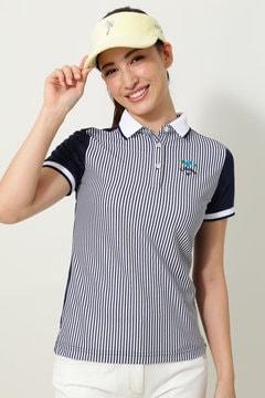 キャロウェイ ワッフルストライプポロシャツ(WOMENS)