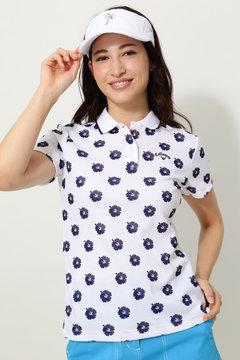キャロウェイ ハイビスカスプリントW鹿の子ポロシャツ(WOMENS)
