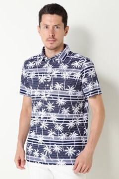 SELECT ヤシの木柄プリントシャツ(MENS)