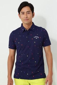 【石川プロ着用】キャロウェイ スプラッシュプリント 鹿の子ポロシャツ(MENS)