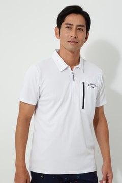 キャロウェイ クローズドメッシュ ハーフジップシャツ(MENS)