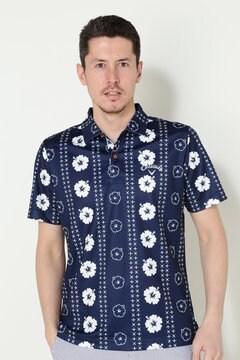 キャロウェイ ハイビスカスプリント ドットメッシシャツ(MENS)