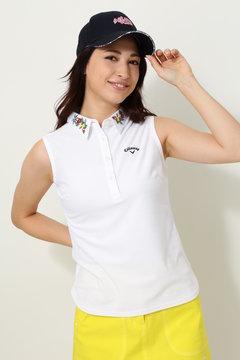 キャロウェイ ボーダーノースリーブシャツ(WOMENS)