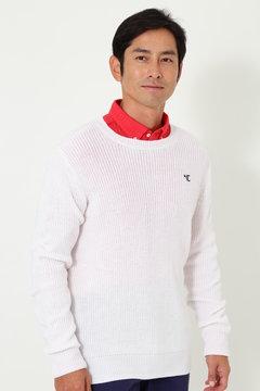 【石川プロ着用】SELECT 片畦編み クルーネックニット(MENS)