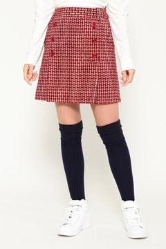 SELECT 微起毛 リボン柄 プリントスカート (WOMENS)