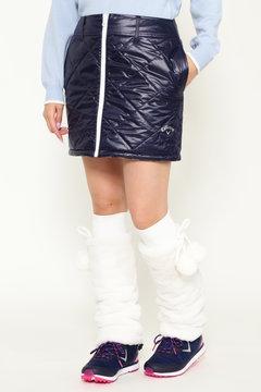 ストライププリントリバーシブル中綿スカート