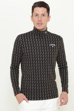 【石川プロ着用】SELECT ピラミッド ジャガード織り ハイネックシャツ(MEN'S)